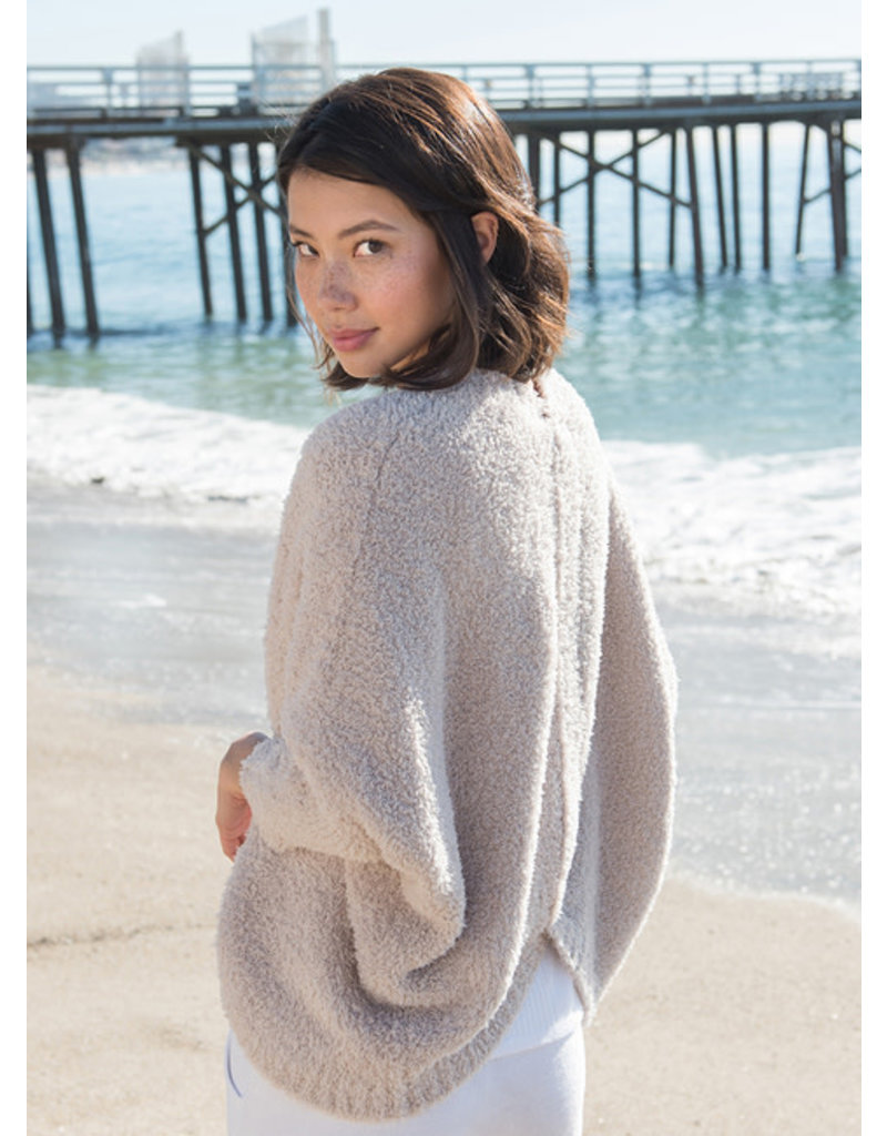 Barefoot Dreams Cozychic Shrug- Oyster Small