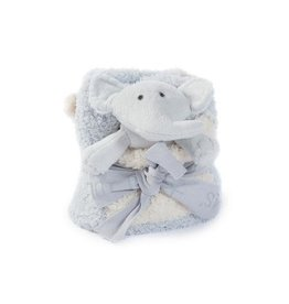 Barefoot Dreams Cozychic Blanket Buddy - Blue Elephant