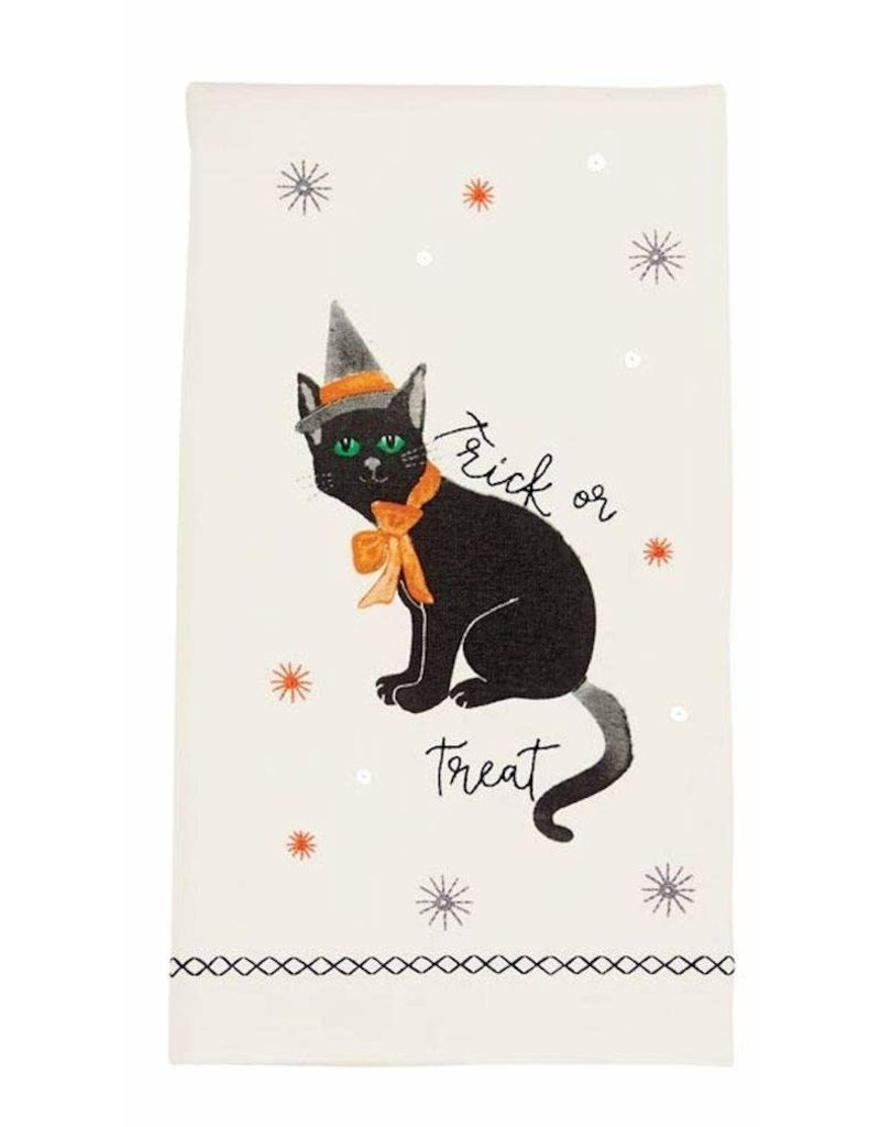 MudPie Cat Sequin Hand Towels