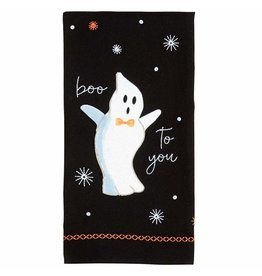MudPie Ghost Sequin Hand Towel