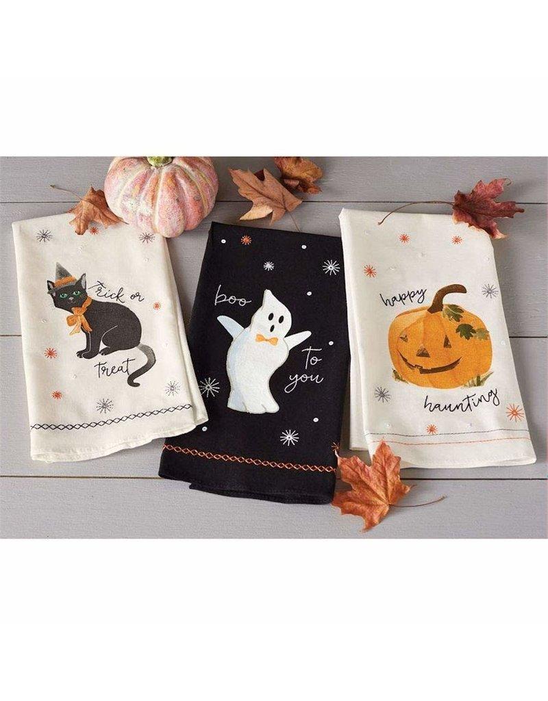 MudPie Ghost Sequin Hand Towel