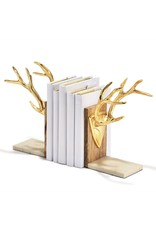 TWO'S CP Golden Antler Bookends