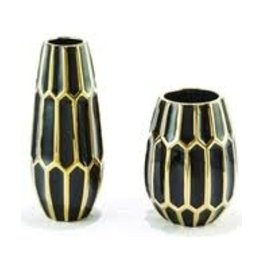 TOZAI Black and Gold Cermaic Vase- Large