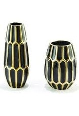 TOZAI Black and Gold Ceramic Vases- Small