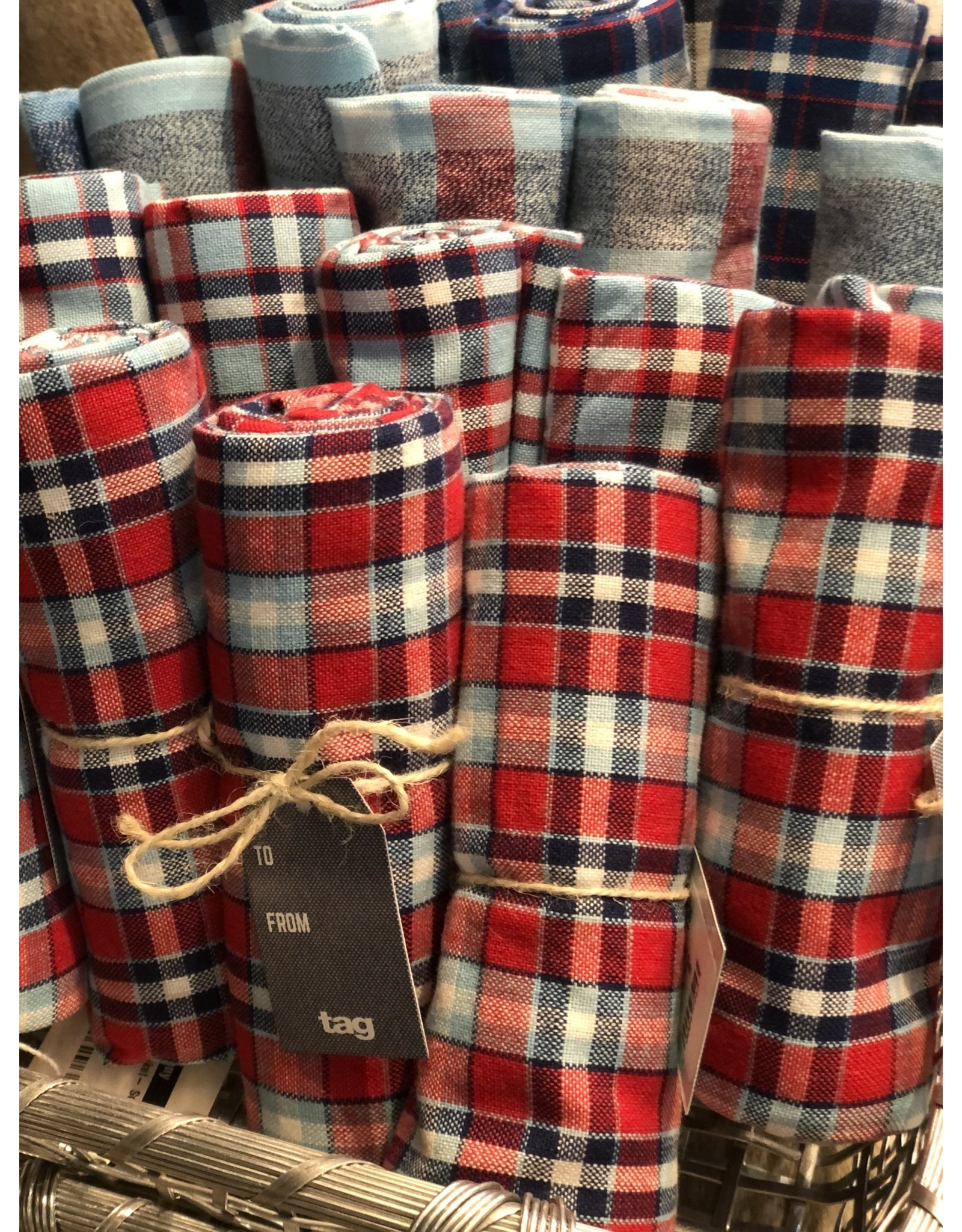 Jessie Plaid Dish Towels Set 2