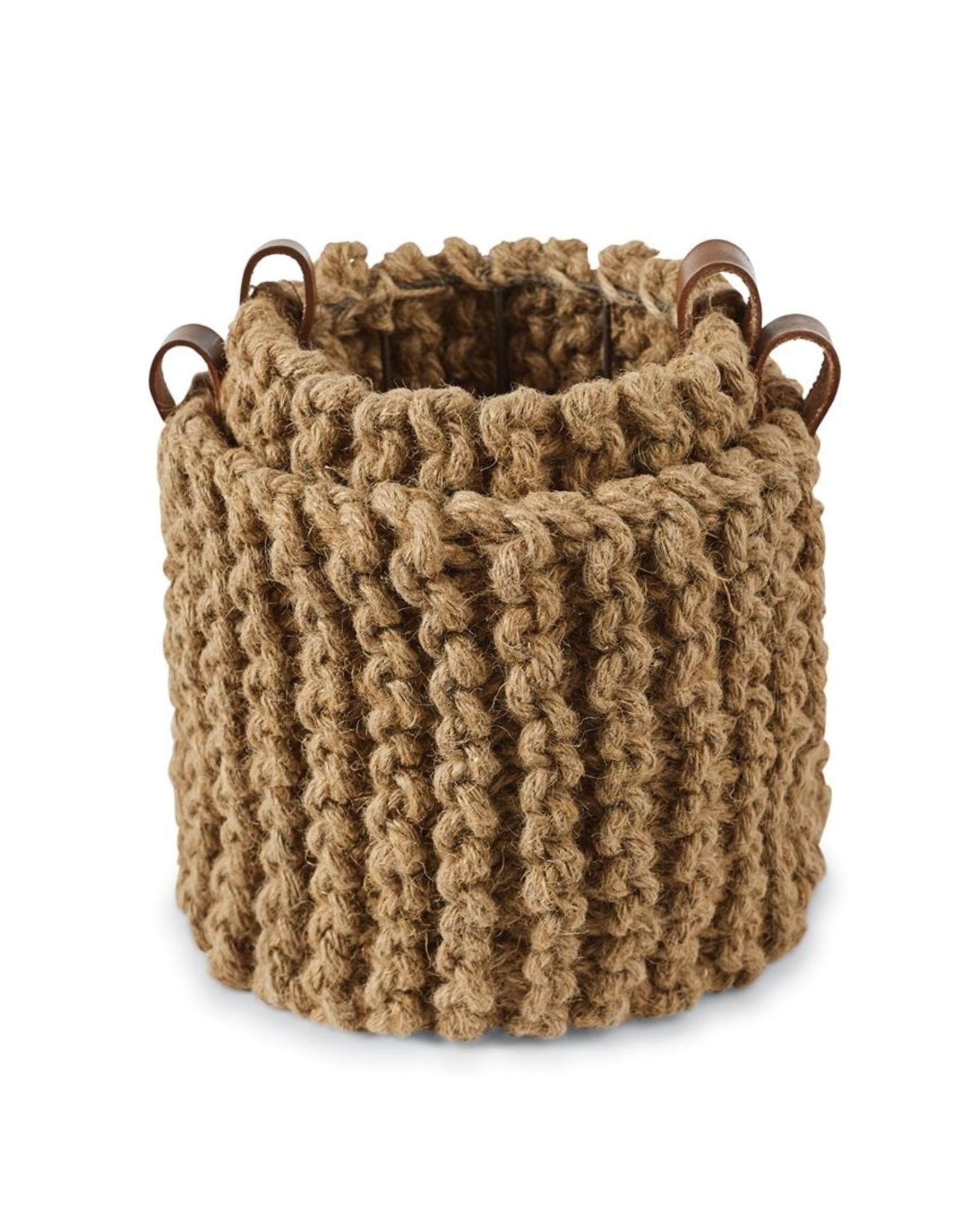 MudPie Jute Pote  Basket - small