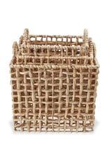 MudPie Water Hyacinth Large Basket