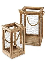 MudPie Chicken Wire Lantern Set