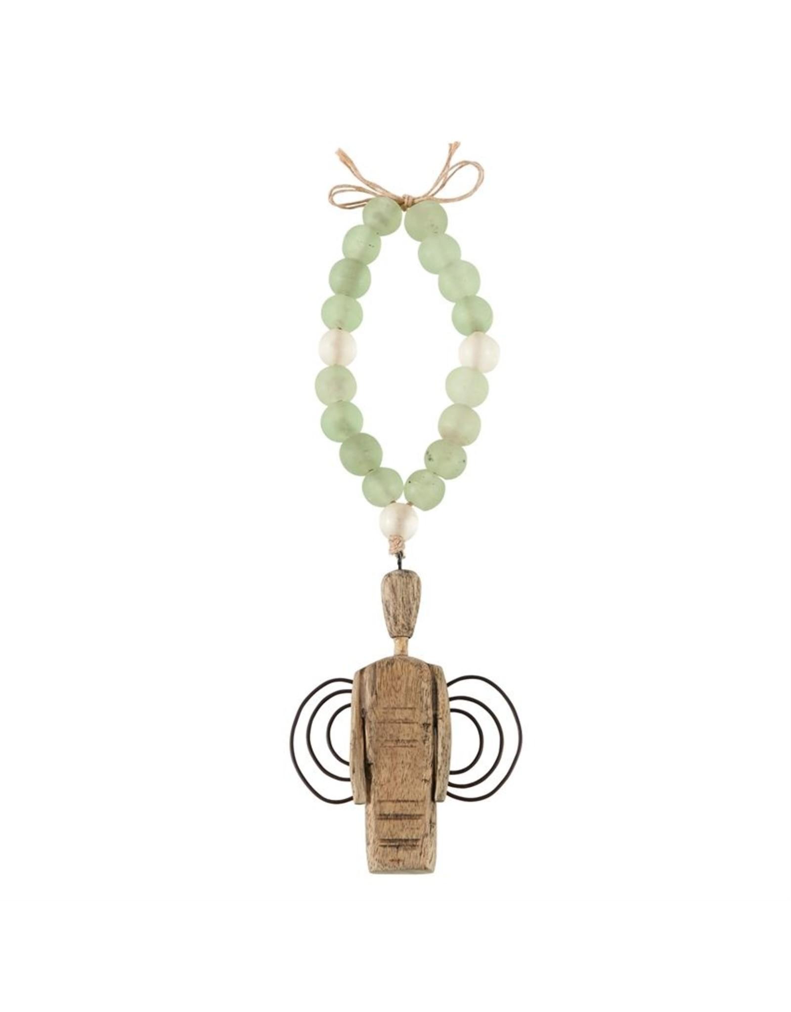 MudPie Angel Drift Wood Glass Beads