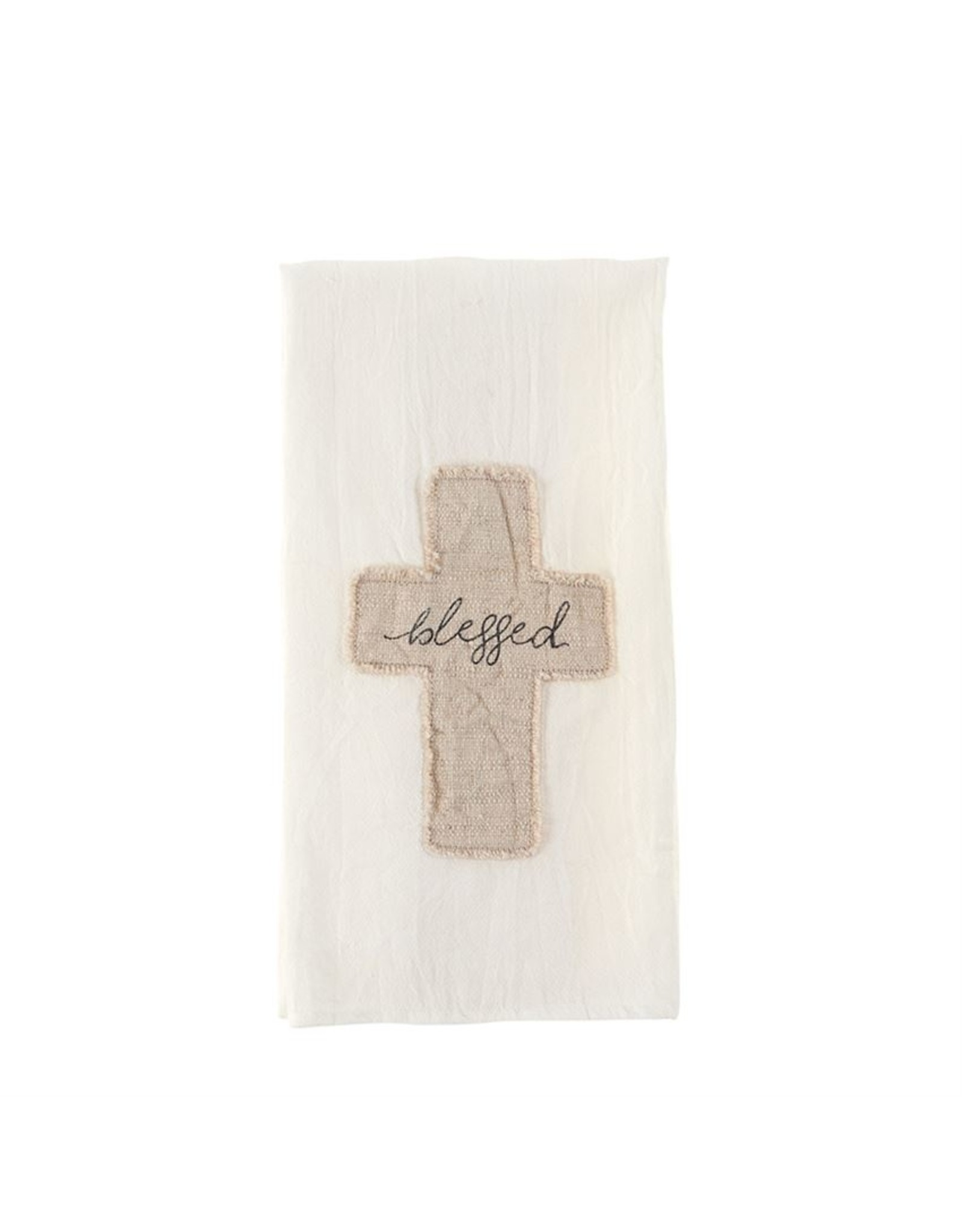 MudPie Blessed Cross Cotton Towel