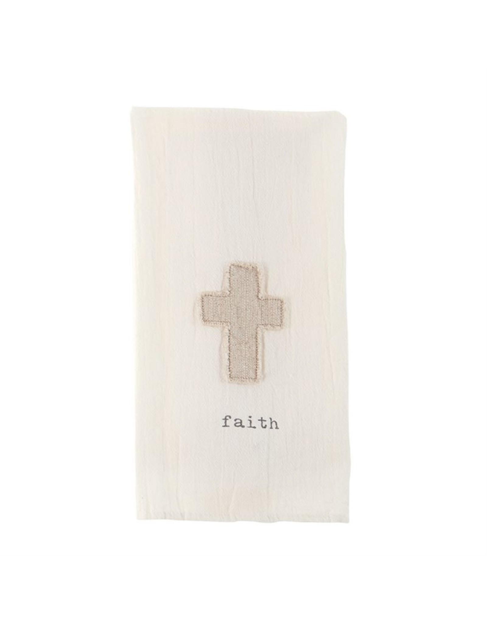 MudPie Faith Cross Cotton Towel
