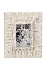 MudPie 5x7 White Ornate Frame