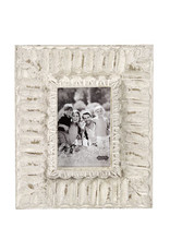 MudPie White Ornate Frame - 4x6