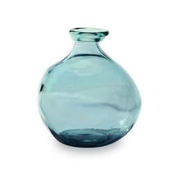 MudPie Light Blue Short Vase