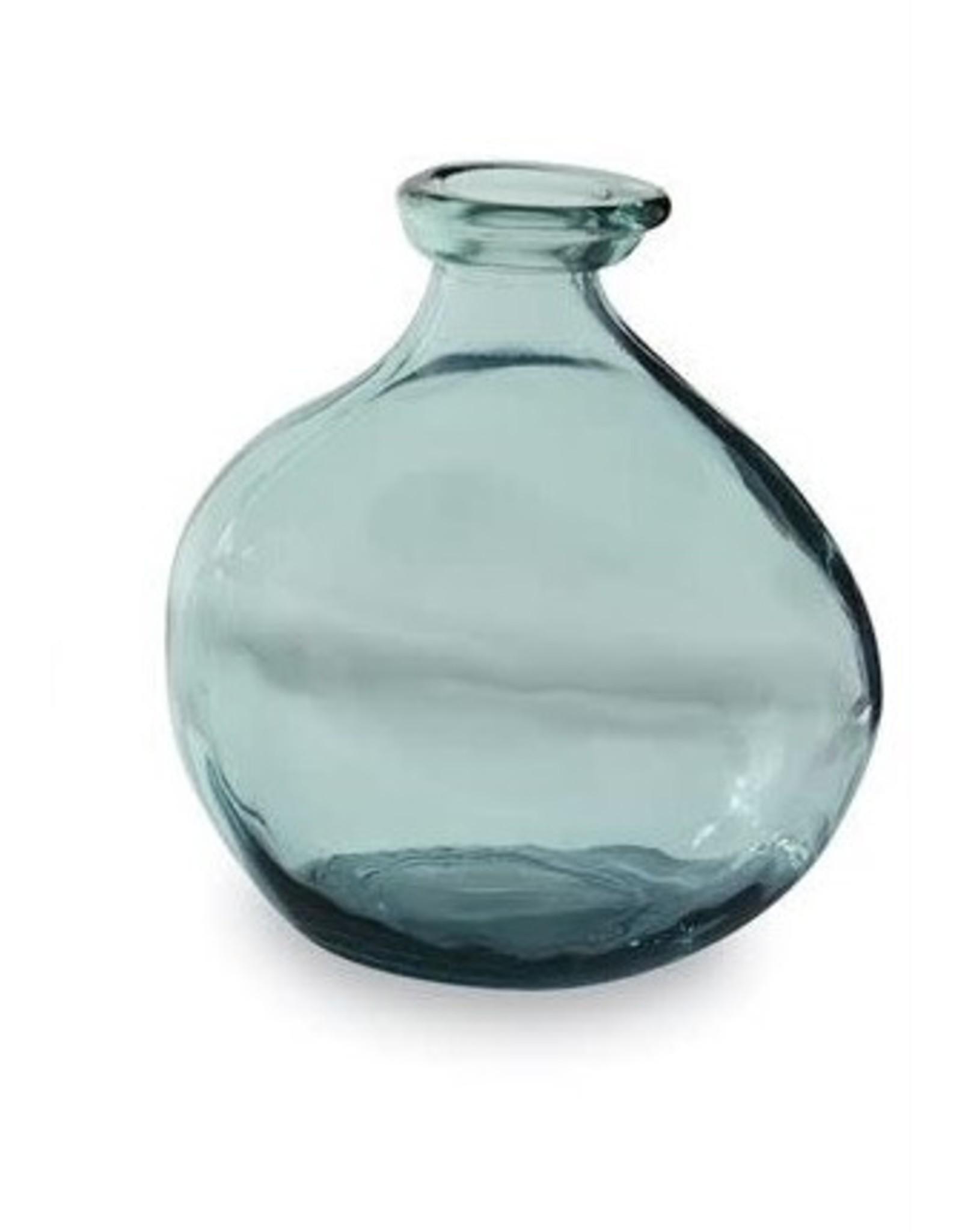 MudPie Grey Blue Short Vase