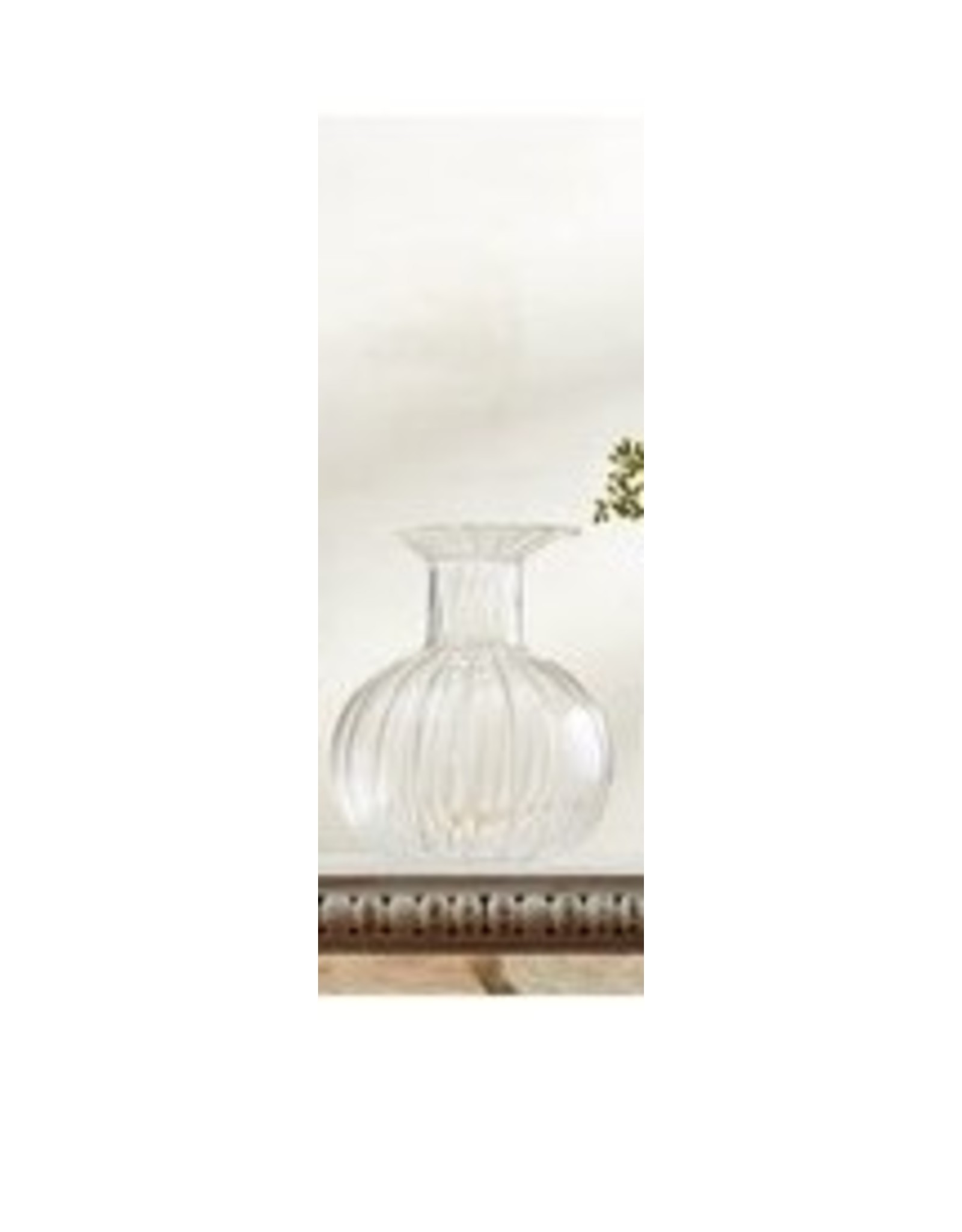 MudPie Round Fluted Glass Vase