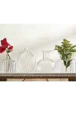 MudPie Square Fluted Glass Vase