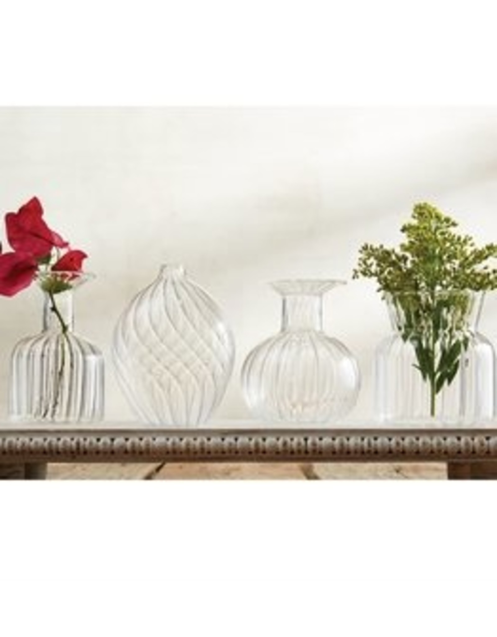 MudPie Swirl Fluted Glass Vase