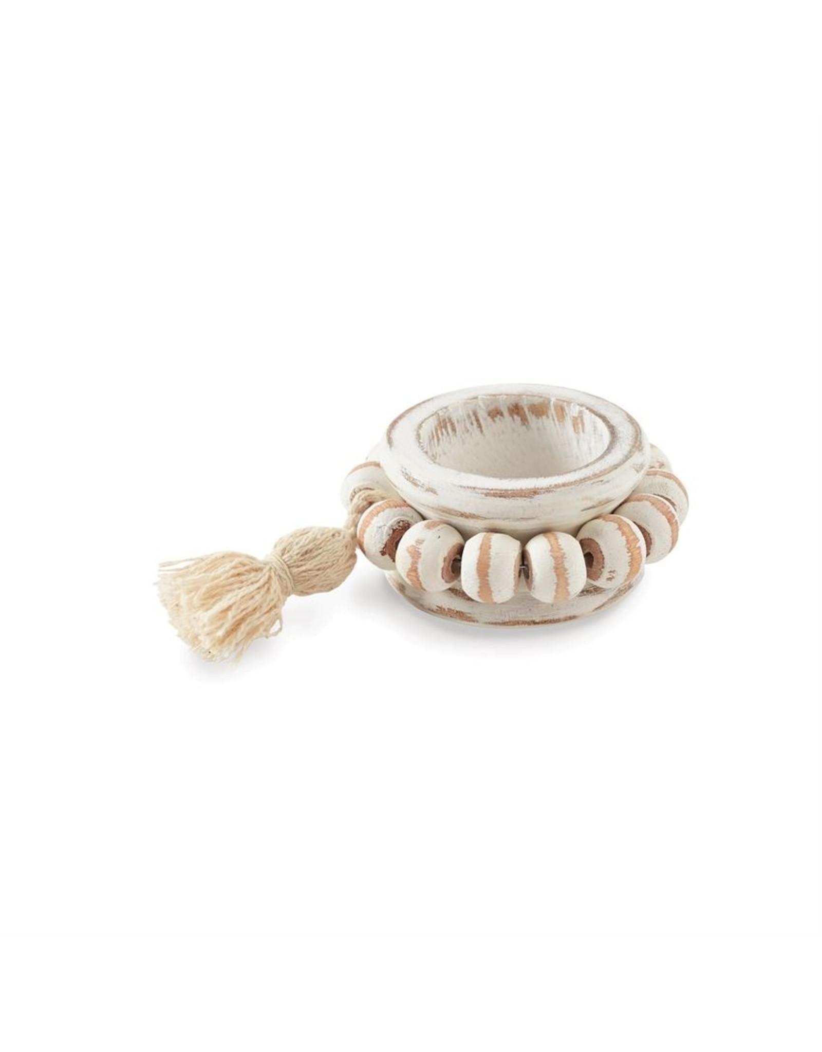 MudPie Beaded Wood Napkin Ring