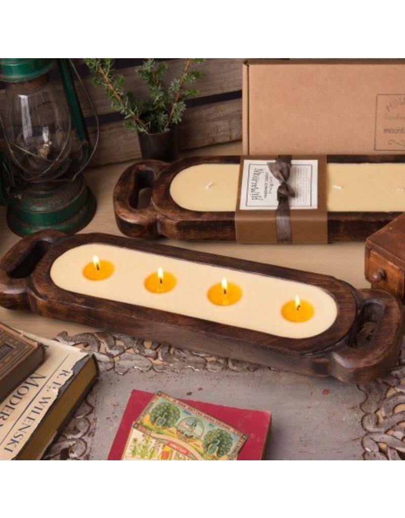 Himalayan Wooden Candle Tray-M-Bourbon Vanilla