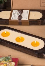 Himalayan Wooden Candle Tray-S-Tobacco Bark
