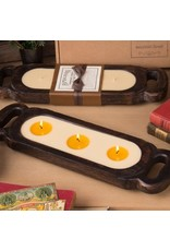 Himalayan Wooden Candle Tray-S-Bourbon Vanilla