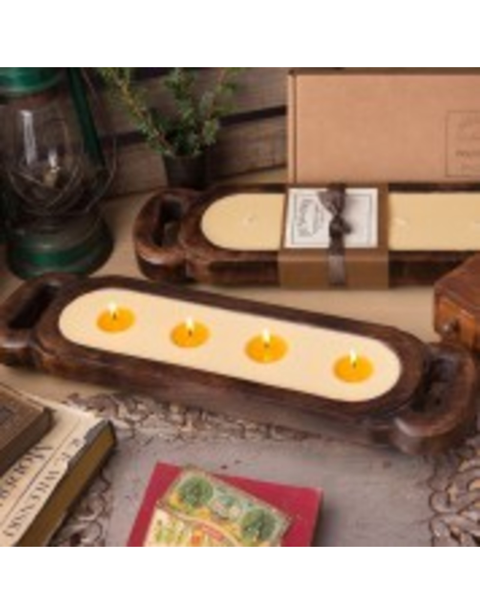 Himalayan Wooden Candle Tray-M-Red Currant