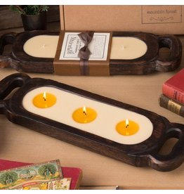 Himalayan Wooden Candle Tray-S-Red Currant