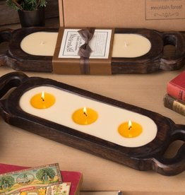 Himalayan Wooden Candle Tray-S-Grapefruit Pine