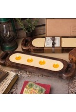 Himalayan Wooden Candle Tray-M-grapefruit pine