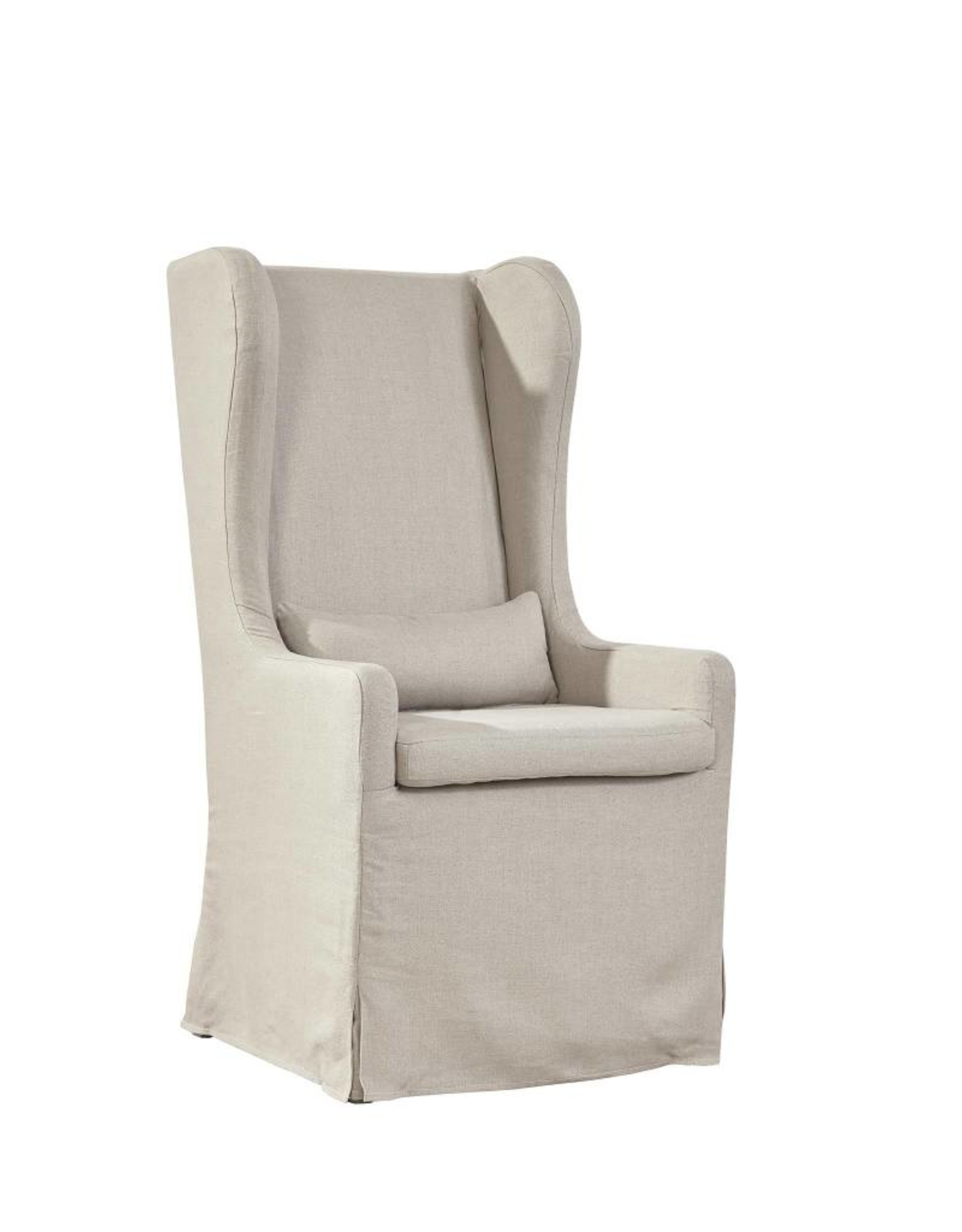 Furniture Classics Highback Linen Host Chair w/small pillow