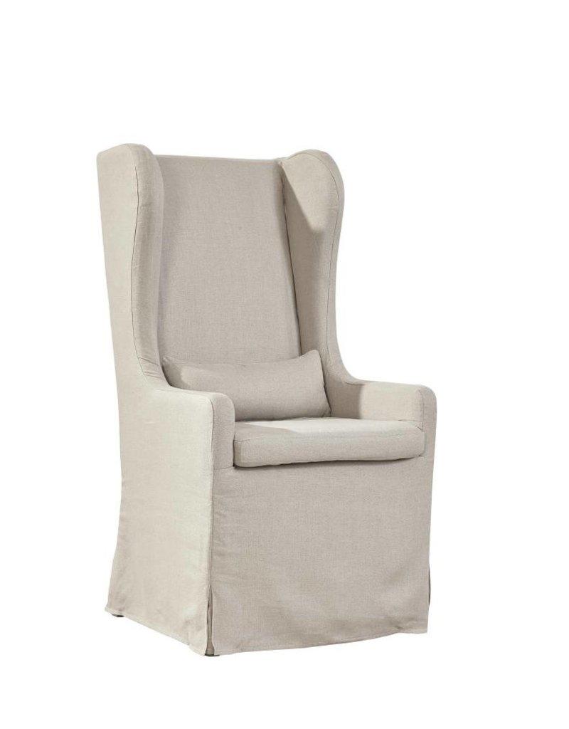 Furniture Classics Highback Linen Host Chair w/small pillow