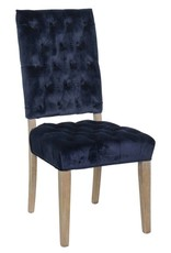 Classic Home Rosalind Side Chair Navy