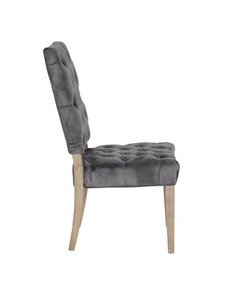 Classic Home Rosalind Side Chair Steel