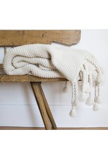 Pom Pom at home Trestles- Oversized Throw 60x90- Antique White