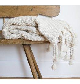 Pom Pom at home Trestles- Oversized Throw 60x90- Antique White