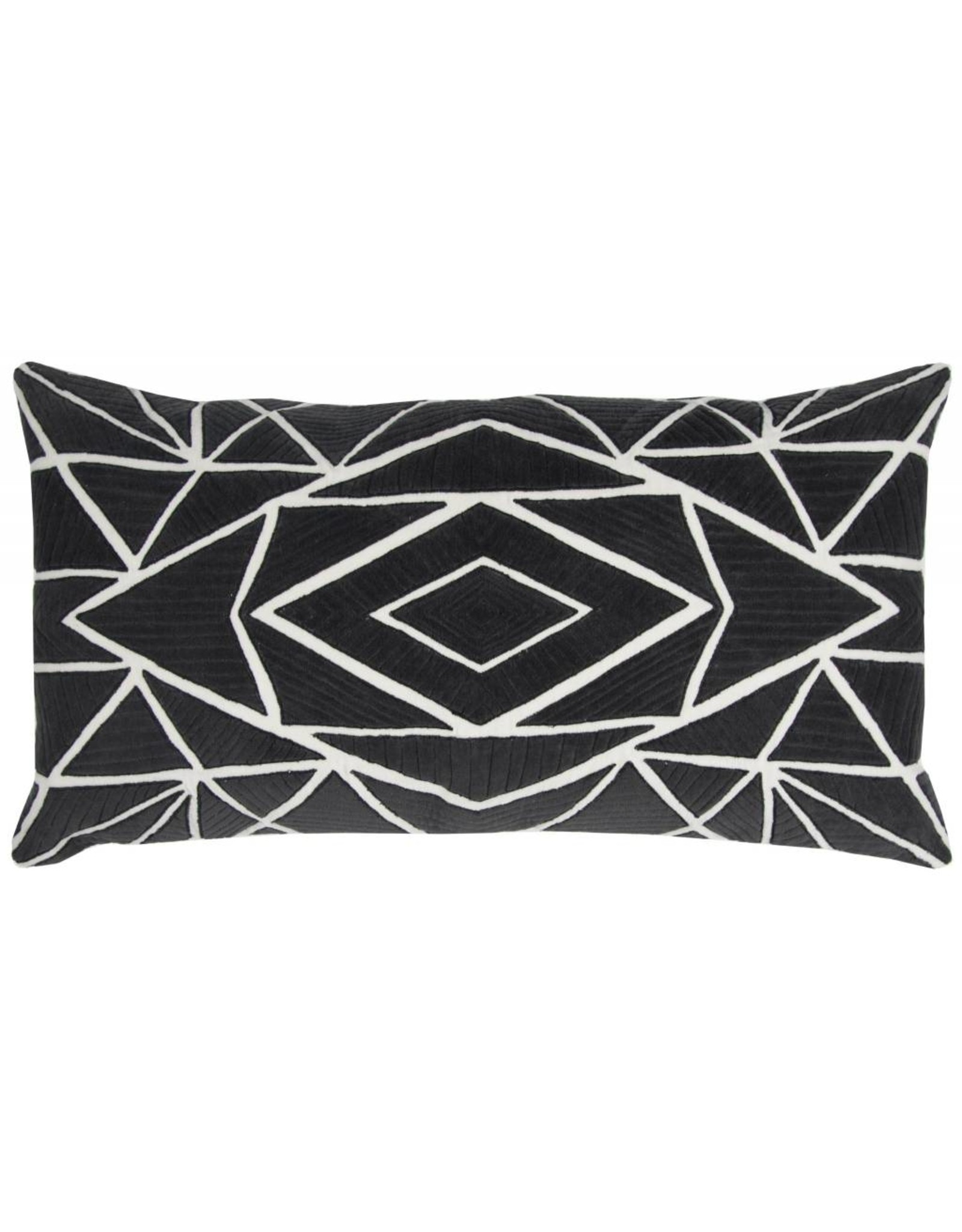 Rizzy Home Black White pillow 14x26