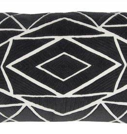 Rizzy Home Black White pillow 14x26