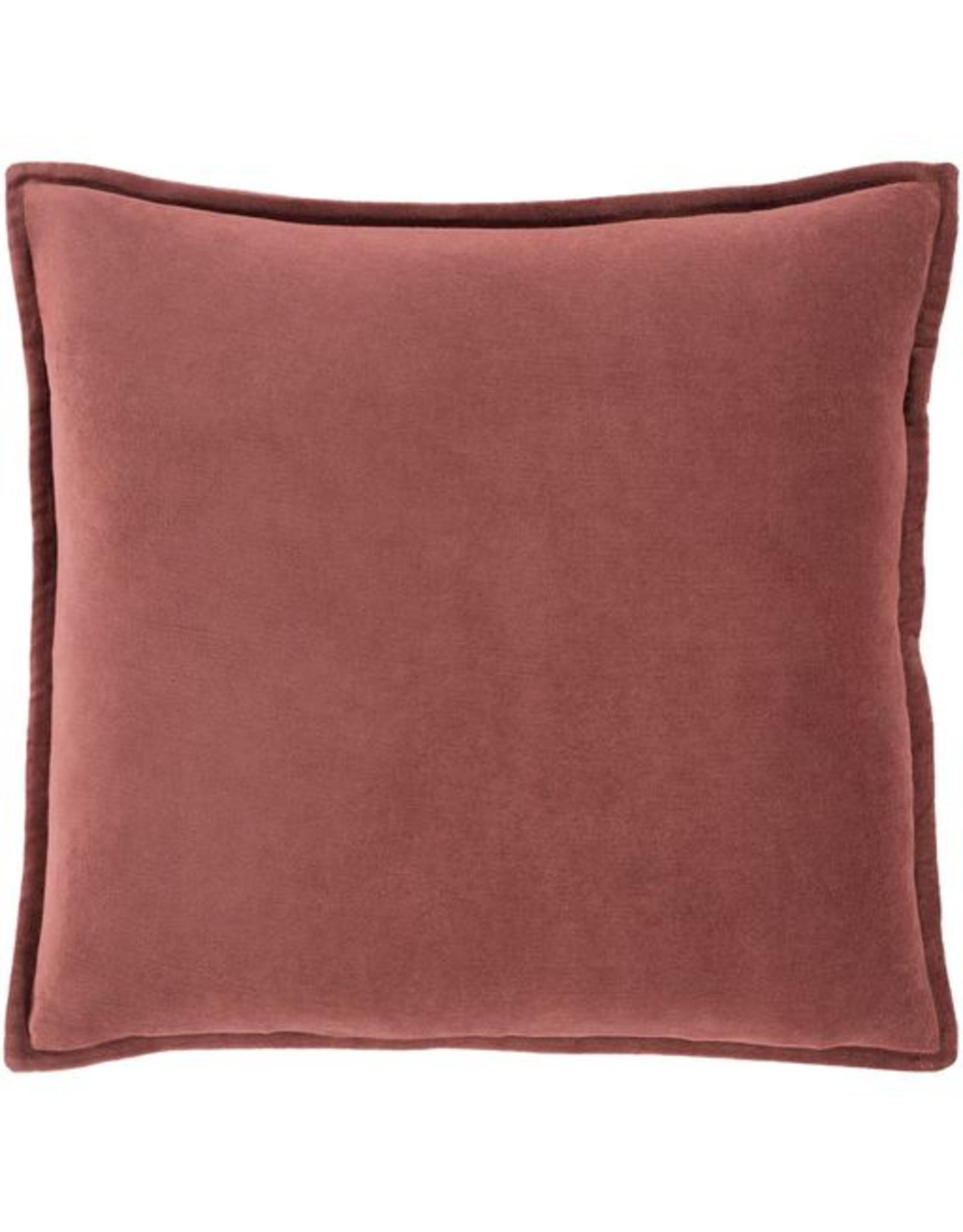 Surya Cotton Velvet 22x22-Dark Green