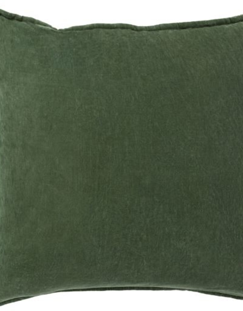 Surya Cotton Velvet 22x22-Dark Green