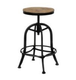 Classic Home Akron Round Bar Stool