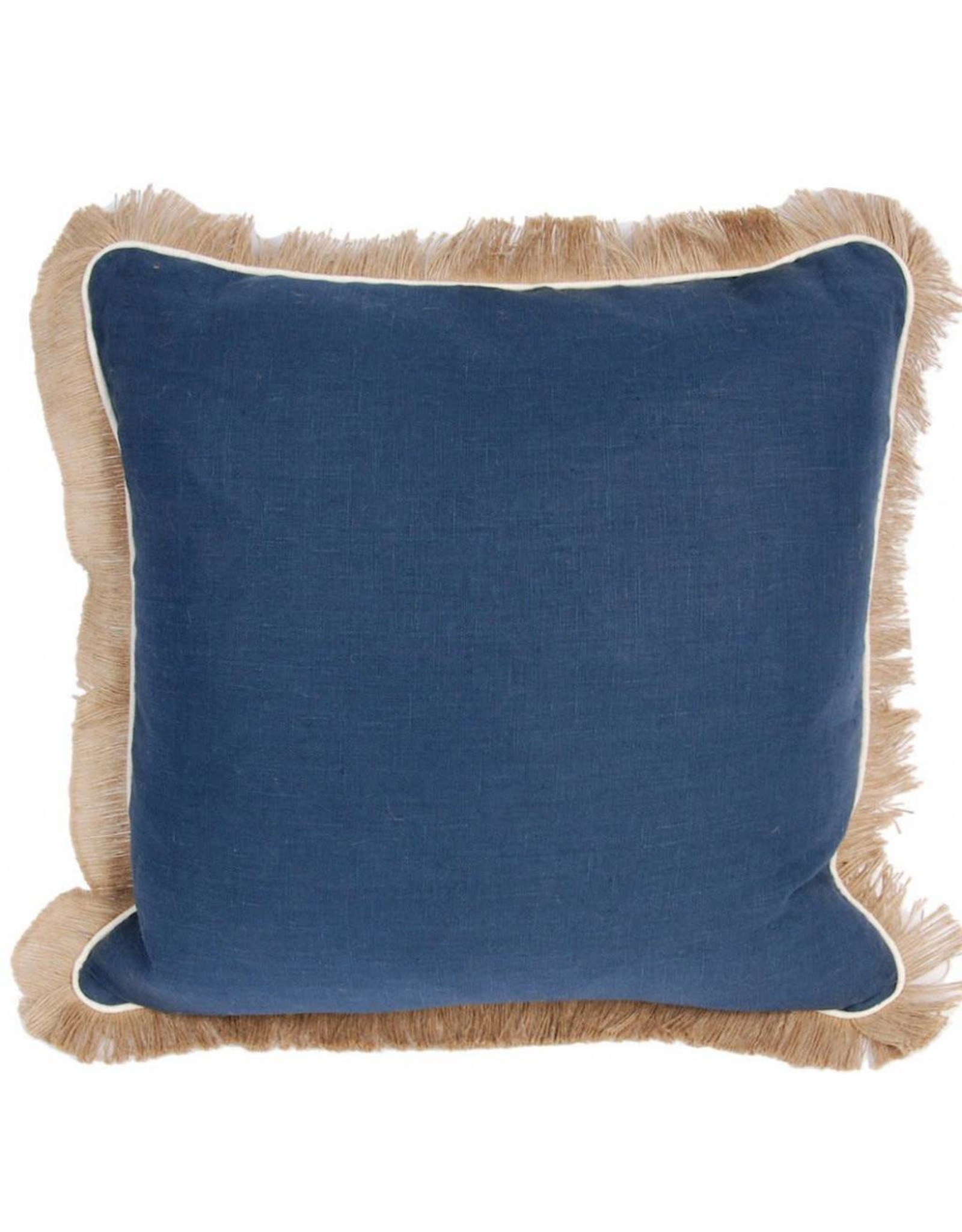 Lacefield Navy Linen Pillow