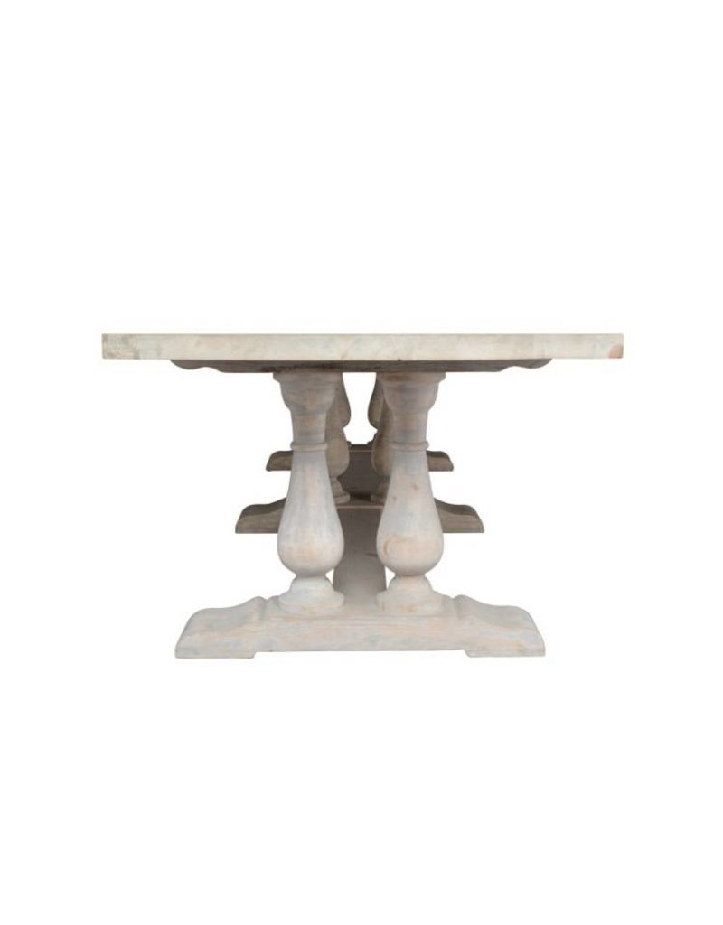 """Classic Home Windsor Dining Table 130"""""""