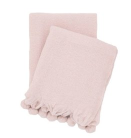 Pine Cone Hill Pom Pom Slipper Pink Throw