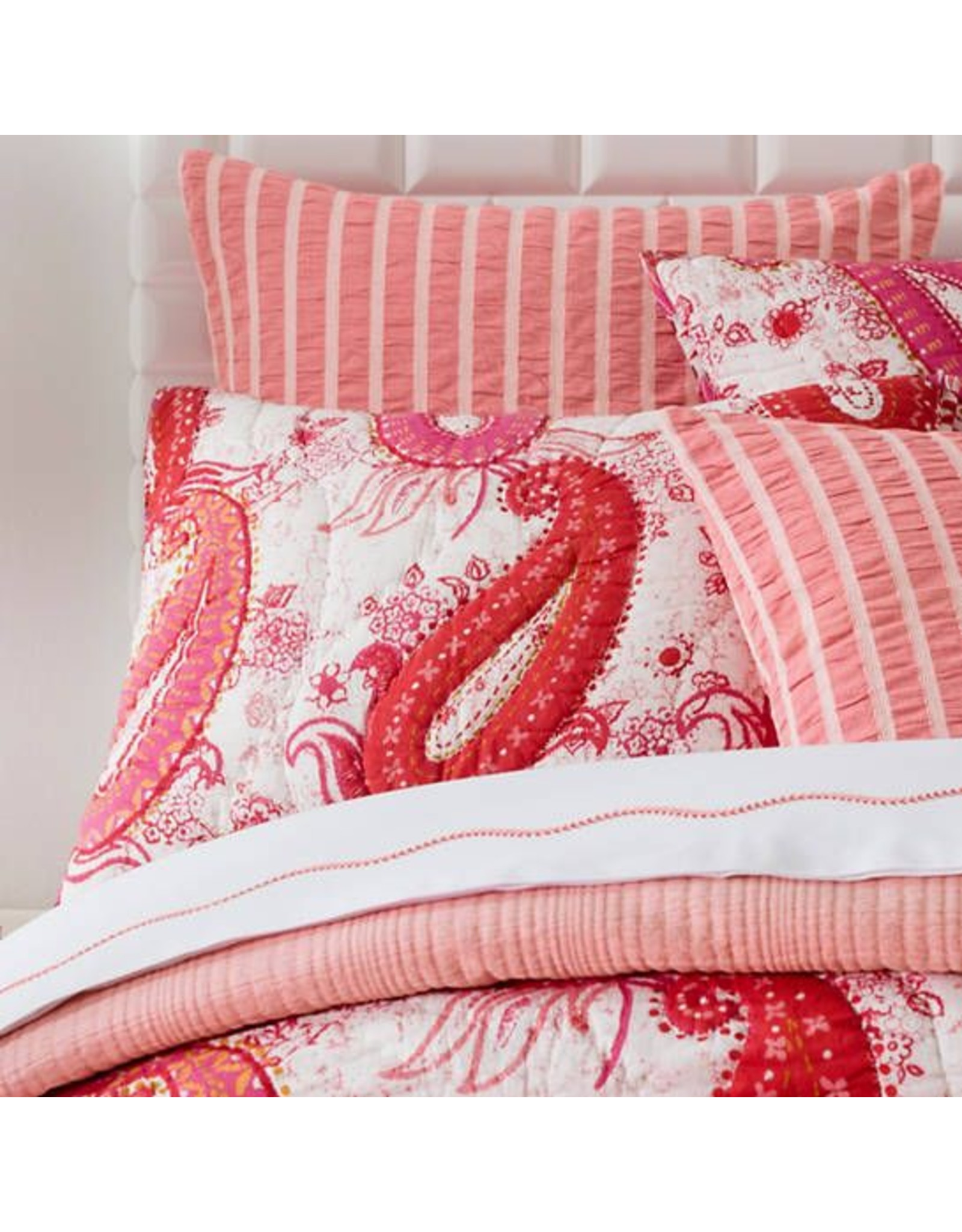 Pine Cone Hill Vista Paisley Quilted Sham Euro Miller And Company Design
