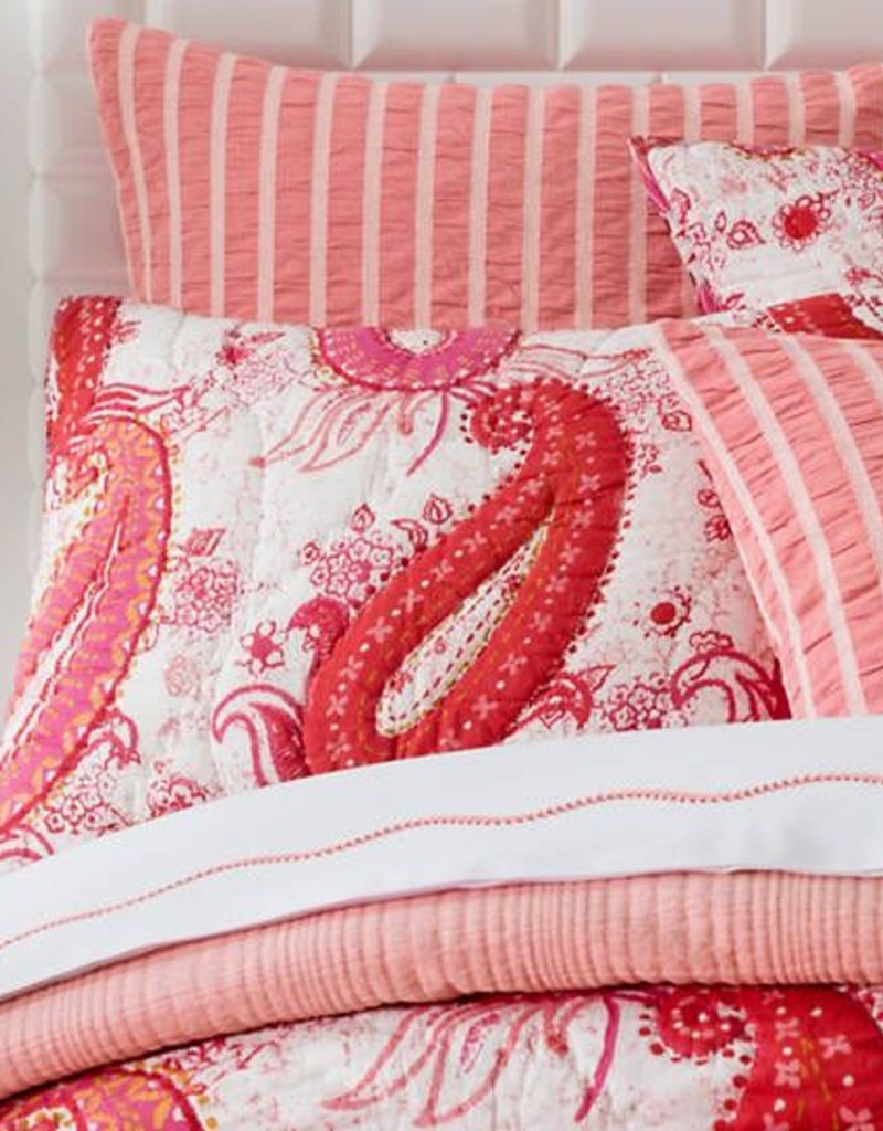 Pine Cone Hill Vista Paisley Quilted Sham/Euro