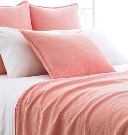 Pine Cone Hill Kelly Coral Matelase Coverlet Twin