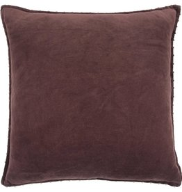 Rizzy Home Bargundy Pillow 22x22