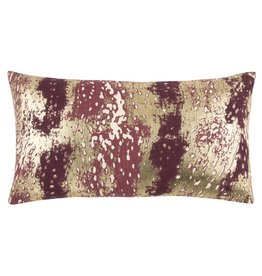 Rizzy Home Wine/Multi Pillow 14x26