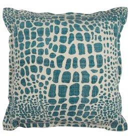 Rizzy Home Peacock Green Pillow 22x22
